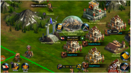 resources on map
